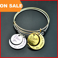 Tennis wood bangles - Fashion bracelet Alex and ani i love you to the moon and back pendant bracelets gold silver moon charm bangle cuff statement jewelry