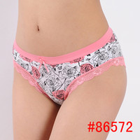 cheap panties - FASHION WOMEN PANTIES SEXY LACE TRIM FLOWER PRINT UNDERWEAR M L XL SIZE COLORS LOW RISE BRIEFS CHEAP FREE POST