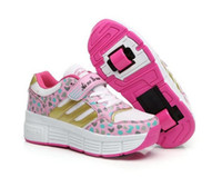 single wheel shoes - new male students heeling pulley shoes girls walking shoes children s shoes with wheels Single wheel Double wheel sneakers