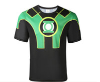 Wholesale cool summer anti sweat short sleeves sports T shirt S XL polyester lycra compressed cycling jersey green lantern