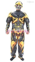 adult bumblebee costume - New arrival American movie Muscle Bumblebee cosplay costume Halloween party costumes for man adult D