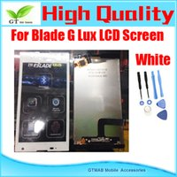 Wholesale 1pcs High quality full LCD screen For ZTE blade G LUX touch screen LCD Screen assembly display White with tools
