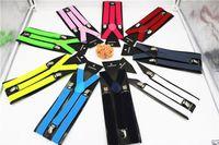 Wholesale High quality Clip on Adjustable Braces Candy Suspender Unisex Pants Y back elastic Suspender Braces DHL