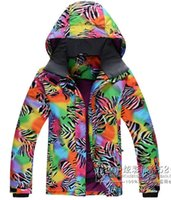 Wholesale New winter Outdoor sports women s skiing jackets amp coat Snowboarding ski suit waterproof Climbing warm clothing breathable