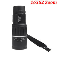 Wholesale 2015 New Generation X52 Zoom Compact Sports Monocular Telescope Mono Spotting Scope for Outdoor Traveling Hiking Camping Black