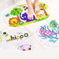 Wholesale PVC suction cup thickened cartoon pattern safety slip rug bathroom children shower carpets for bathroom mm