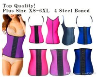 Wholesale Latex Body Shaper Steel Boned Waist waist Training Corset Vest Latex Waist trainer Cincher Corset Postpartum Slimming Shapewear