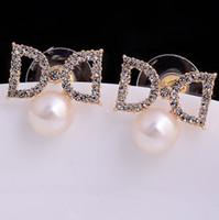 Wholesale wonderful crystal D pearl lady s earings cm xgspc