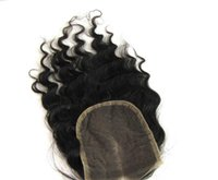 Wholesale 100 Brazilian Human Hair Part Body Loose Wave Curly Straight Lace Closure inch Length b Virgin Hair