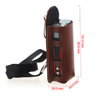 Wholesale Newest Electronic Cigarette Pouch ISTICK Case REAL Leather box mod bag use for mah smart W box mod Ego Pouch