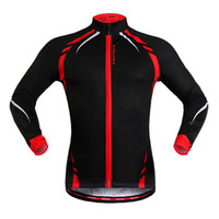 Wholesale WOSAWE Cycling Jacket Jersey Long Sleeve Wind Coat Sportswear Outdoor red and yellow free shippiing