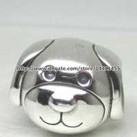 dog charms - 2015 New Autumn Sterling Silver Devoted Dog Charm Bead Fits European Pandora Jewelry Bracelets Necklace