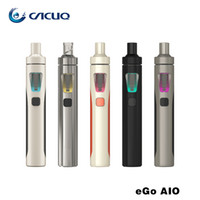 Wholesale electronic cigarettes Authentic Joyetech Ego Aio Kit mah Ego Aio Battery ml Anti leaking Tank All In One E Cig Starter Kit