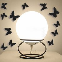 Wholesale 12 plastic stereo butterflies wall stickers home decor DIY home decoration wall sticker
