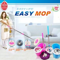 spin mop - Hot sale best price portable stainless pole High quality hand press degree spin dry magic mop rotating mop