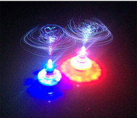 Wholesale Crown UFO LED gyroscope FOG flash music toy night market stall selling