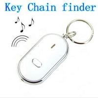 Wholesale Brand New LED Key Finder Locator Find Lost Keys Chain Keychain Whistle Sound Control