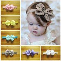 Wholesale 10 Colors Can Choose Fashion Princess Girl Hair Accessories Girls Chiffon Hair Bands Big Bowknot Headbands Brooch Handmade Hairdress A1581