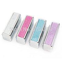 Wholesale 1000pcs New cute make up Mirror pocket compact crystal lipstick holder handmade Bling Lipstick holder KJ