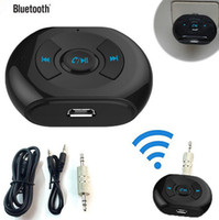 Wholesale Hot sell Black mini Wireless Bluetooth mm AUX Audio Stereo Music Speaker Mic Car Receiver Adapter