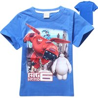 Wholesale Big Hero Boys Tee Shirts Children Casual Clothing Kids T shirt Wear Summer Factory Direct Fit4 yrs kids clothes
