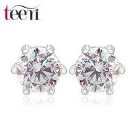 best earring material - Teemi Silver Stud Earrings Best Sale Classic Style Single Karat mm Clear Cubic Zirconia Material Stering Jewelry For Women Party Gift