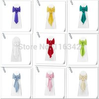 Wholesale Factory Price Stain CHAIR COVER BOWS WEDDING SASHES