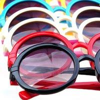 Wholesale Lovely Kids Child Unisex Multicolored Plastic Frame Round Lens Stars Sunglassess Hot