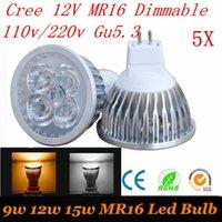 12v mr16 down light - 5X High Power W W W Dimmable V MR16 GU5 LED spotlight bulb lamp V V LED COB Spot down light lamp bulb