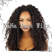 custom made full lace wig - Custom Made Kinky Curly Wig Brazilian Virgin Hair Human Hair Wigs Front Lace Curly Wig Glueless Full Lace Wigs With Baby Hair For Women