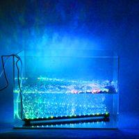 aquarium tank - LED Aquarium Light Fish Tank Lamp Underwater Submersible Air Bubble Color Changing Decorative LED Lighting US Plug