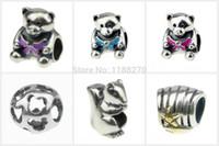 Cheap wholesale animal silver beads Best mix lot silve jewelry