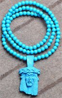 Wholesale Various Fashion Wooden Hip Hop Long Rosary Beaded Pendant Necklace