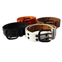 Wholesale 2014 designer beautiful Holes Bonded Men Women Leather Belts Removable Metal Unisex Buckle