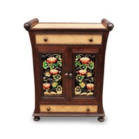 antique asian furniture - Thai crafts furniture handmade wood carving Cabinet Entrance Cabinet two drawers South East Asian style home