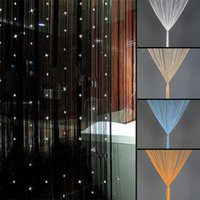 acrylic divider - Brand New Beaded Acrylic String Window Home Decor Curtain Divider Crystal Beads Curtain Tassel Screen Panel Colors Hot