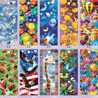 Wholesale pieces designs D lenticular plastic promotional bookmark with beautiful tassel