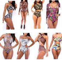 Cheap One Pieces triangl swimwear bikini Best Polyester Leopard swimwear plus size women