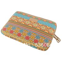 Wholesale HOT Bohemian Style quot quot quot quot quot Canvas Laptop Sleeve Case Bag Pouch