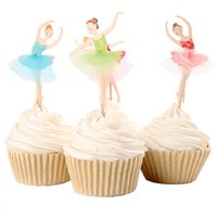 baking fairy cakes - 24pcs Angel Fairy Cupcake Topper Picks children s birthday party cake decoration paper inserted card baking supplies
