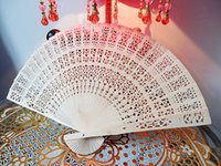 Sandalwood advertising hand fans - New Wedding Fans Handmade Chinese Sandalwood Fans Ladies Hand Fans Advertising and Promotional Folding Fans Bridal Accessories
