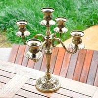 Wholesale European style Bronze Arm Candlesticks Home Hotel Ktv Supplies Wedding Romantic Wedding Gifts