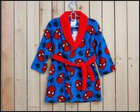 Wholesale Prettybaby kids cartoon printing coral velvet bathrobe Star wars spiderman batman night gown pajamas nightshirt Pt0117