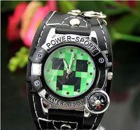 Wholesale 2015 new Luxury Minecraft fashion watch mens watches cartoon My world digital wristwatch Christmas Birthday gifts sports watches styles
