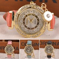 black sunflower - Fashion Women Luxury Rhinestones Sunflower Dial Crystal PU Leather Strap Quartz Wrist Watch with Drum Pendant MPJ633