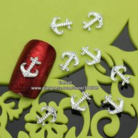 anchoring tips - RH534 Alloy D Nail Art Tips Glitters Boat Anchor DIY Nails Decorations New Arrive MM