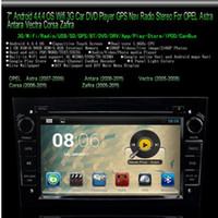"""7 """"coche DVD 2Din Android 4.4 pantalla táctil de coches reproductor de DVD de navegación GPS Radio Estéreo 3Gwifi para Opel Antara / Vectra / Corsa / Zafira"""