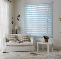Wholesale 2015 New Rainbow Blinds Zebra Window Blinds Shade Persiana Curtain Blinds Louvers Roller Winder Blinds