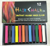 Wholesale 2015 Hair Coloring Chalk Hot Sale Temporary Non Toxic Hair Pastel Chalk with Colors Dye Soft Pastel DIY mix color
