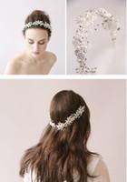 Wholesale Silver Bridal Headpiece crystal pearl Bridal wedding Tiaras Hair Accessories